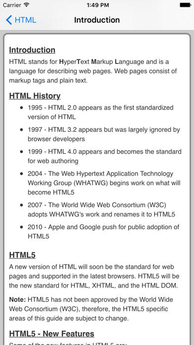 HTML Pro Quick Guide screenshot two