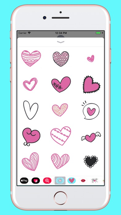 Screenshot for Hand drawn valentine hearts in Kazakhstan App Store
