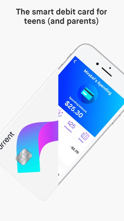 Current - The smart debit card for teens & parents screenshot-0