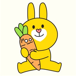 Yellow Bunny Animated Stickers