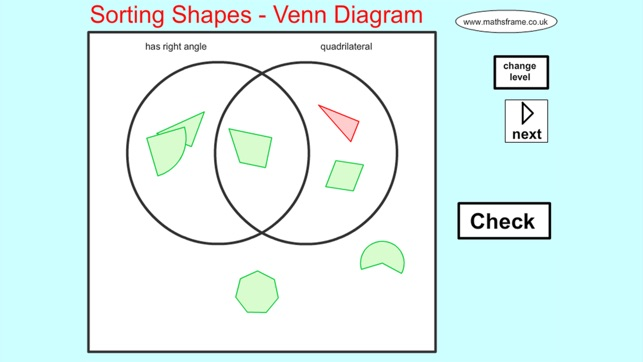 Sorting 2d shapes venn diagram on the app store screenshots ccuart Image collections