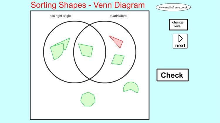 Sorting 2d Shapes Venn Diagram By Mathsframe Ltda