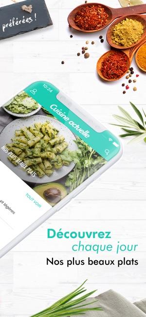 Cuisine Actuelle: idée recette im App Store
