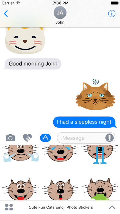 Cute Fun Cats Emoji Photo Stickers screenshot three
