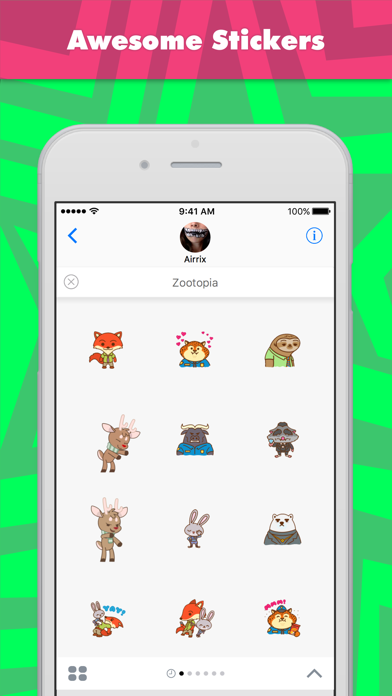 Zootopia stickers by Airrix screenshot one