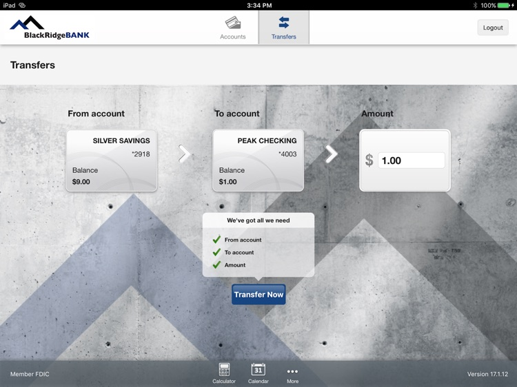 BlackRidgeBANK App for iPad screenshot-3