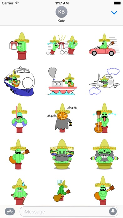 Mexico Cactus Music Band Emoji screenshot 4