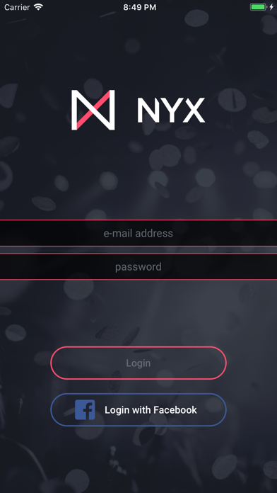 Nyx - nightlife platform screenshot