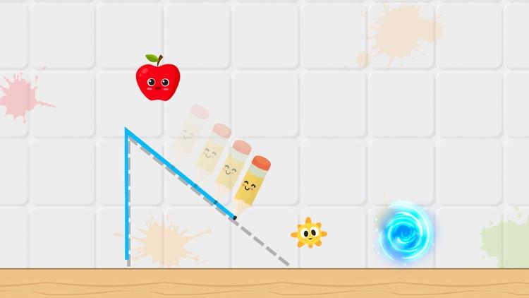 Fruit Escape: Draw Line screenshot-0