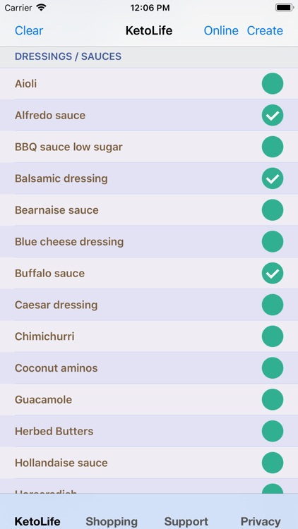 KetoLife Allowable Food List
