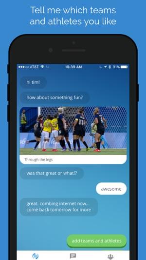 Avid Sports Chat Screenshot