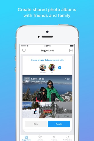 Moments–private shared albums screenshot 1