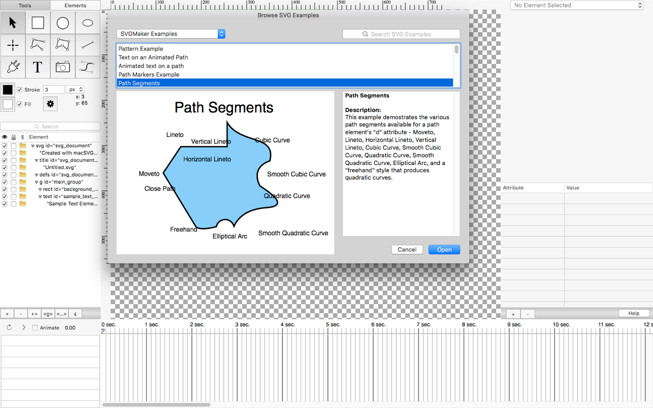 SVGMaker Mac 破解版 SVG编辑器-麦氪搜(iMacso.com)