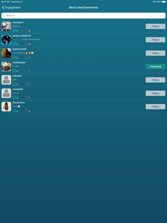 Followers Pro + for Instagram-ipad-7