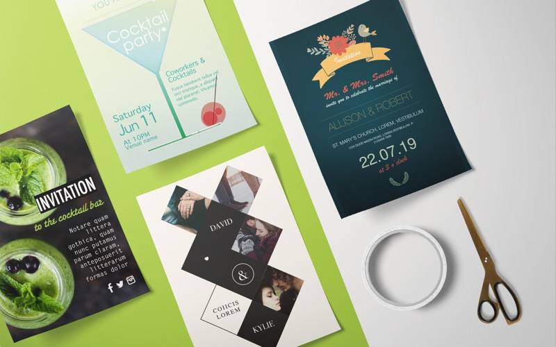 DesiGN Invitation Templates Screenshot