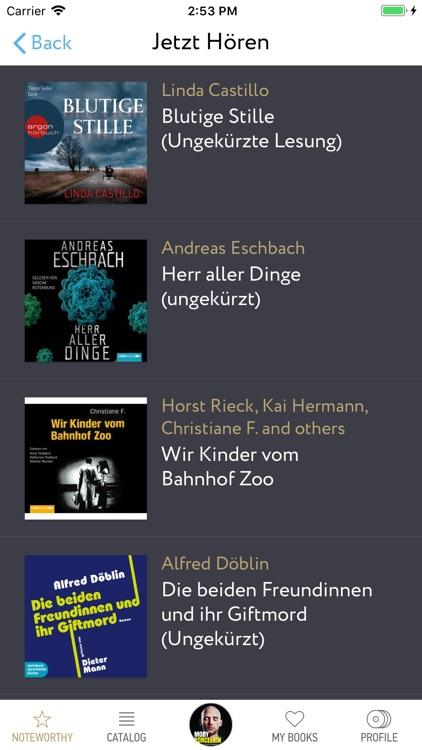 Audiobooks in German