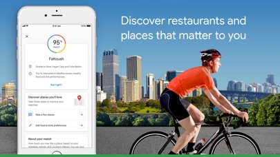 Google Maps - Transit & Food Screenshots