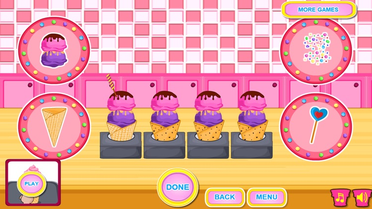 Ice Cream Cone Cupcake Cooking screenshot-4