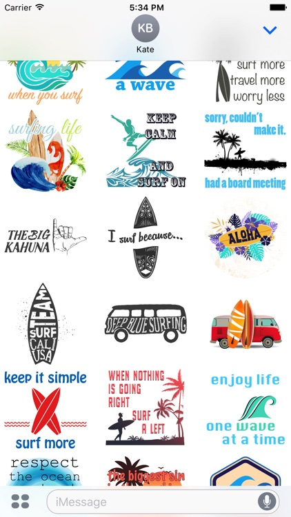 Surf Stickers Pack 2