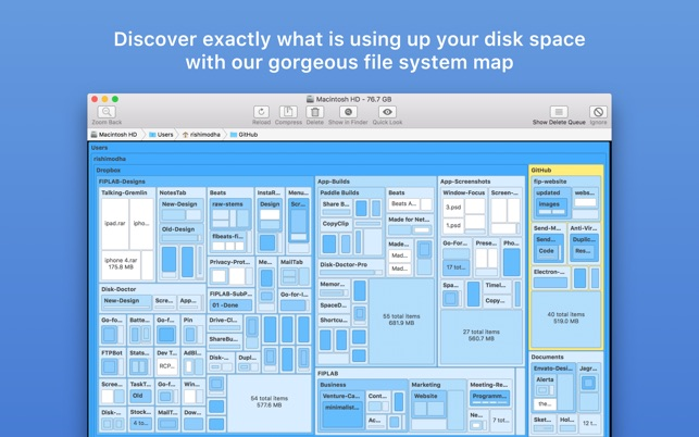 ‎Disk Map: Visualize Disk Usage Screenshot