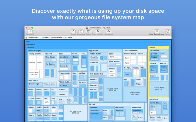 Disk Map: Visualize Disk Usage Screenshot