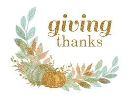 Glittering Thanksgiving
