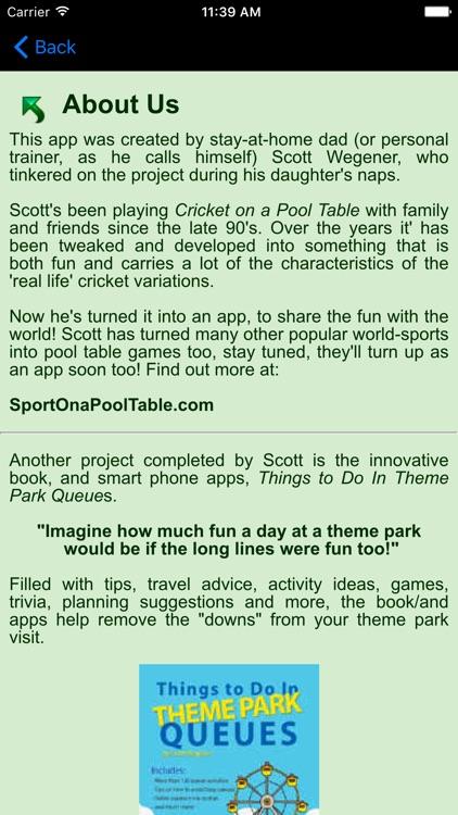 Cricket on a Pool Table screenshot-4