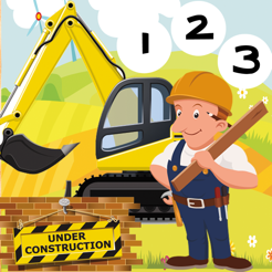 ABC & 123 Construction Worker Kids Game with Many Challenges! Free Learn-ing, Fun Play-ing Challenge