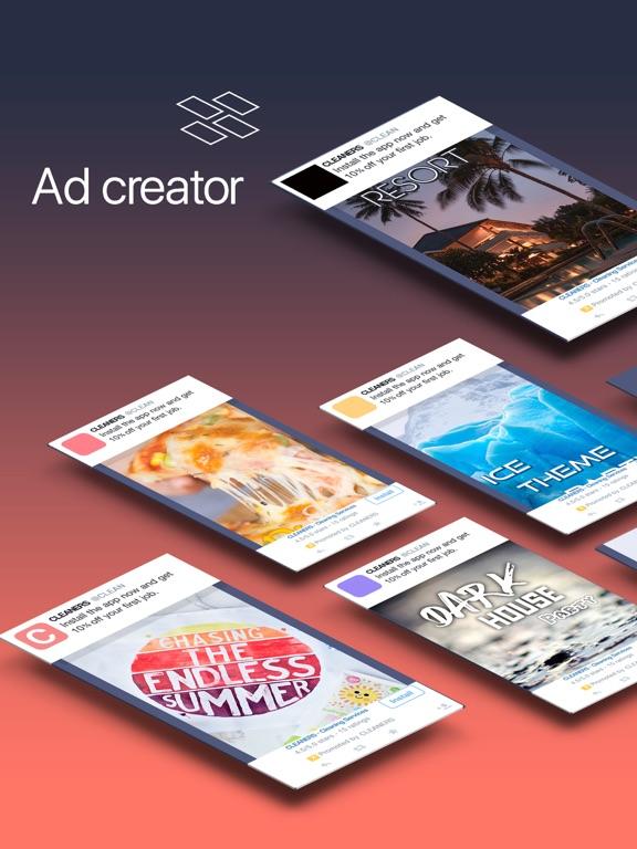 post ad creator for social app price drops