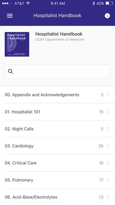 Hospitalist Handbook Screenshot