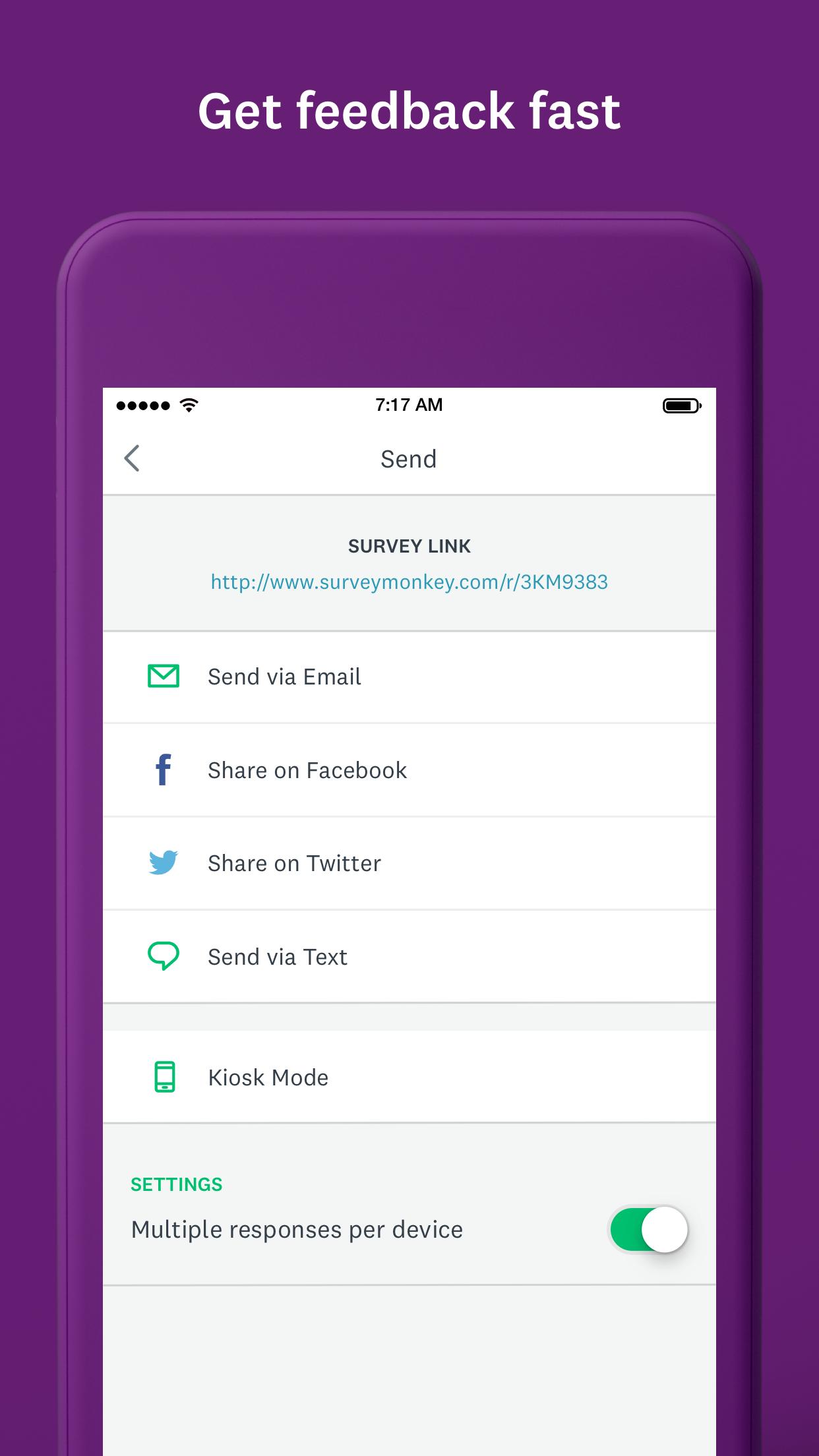 SurveyMonkey Screenshot