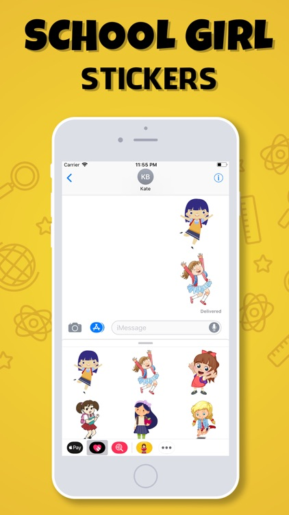 School Girls Stickers screenshot-3