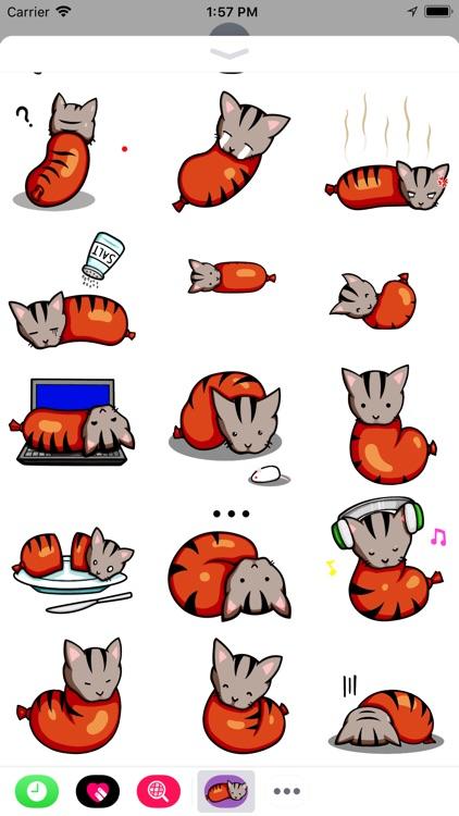 Sausage Cat Animated Stickers screenshot-4