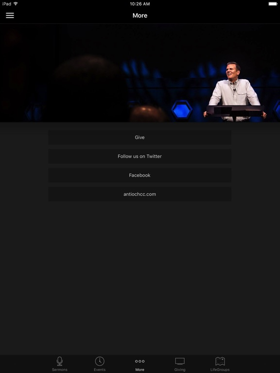 Antioch Community Church Waco screenshot 6