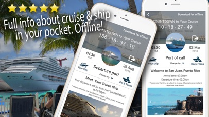 Cruise Itinerary App. CruiseBe Screenshot