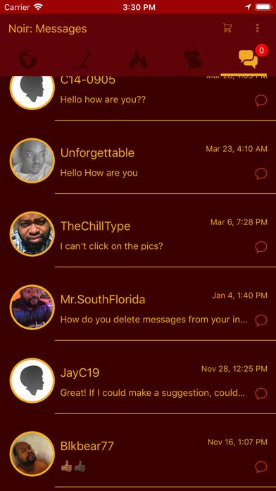Noir: Dating for Gay PoC screenshot four