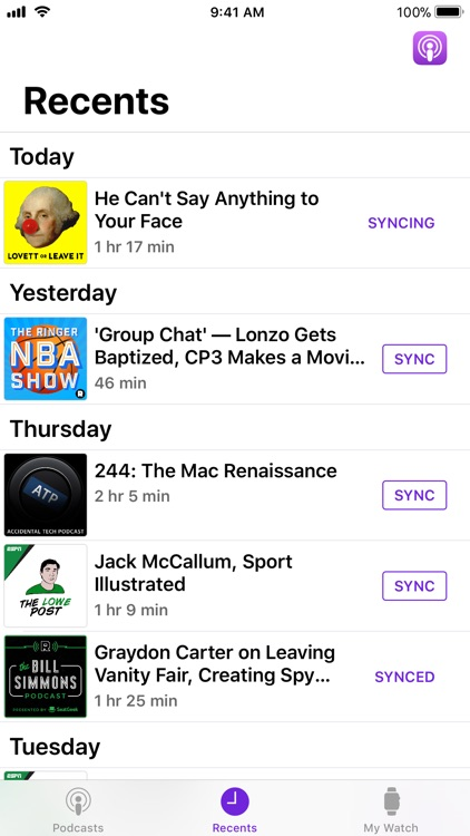 Pod2Watch-Watch Podcast Player