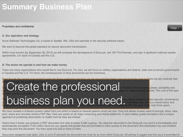 Stratpad Business Plan Writer On The App Store Ipad Screenshots