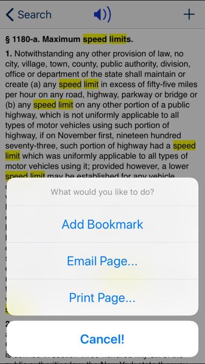 NY Vehicle & Traffic Law 2018 screenshot-3