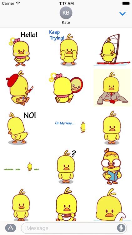 Animated Cute Chicken Sticker