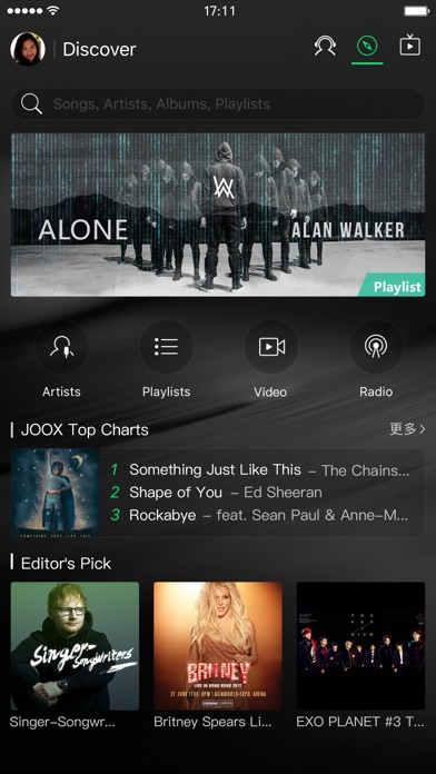 JOOX Music Screenshots