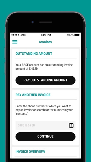 My BASE On The App Store - Apple iphone invoice