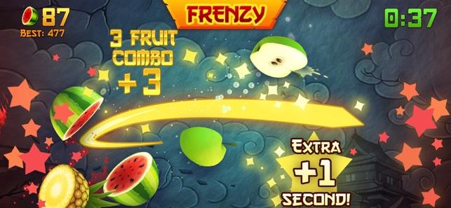 Очень старая версия fruit ninja