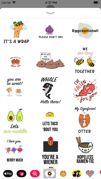Cute puns punny sticker pack