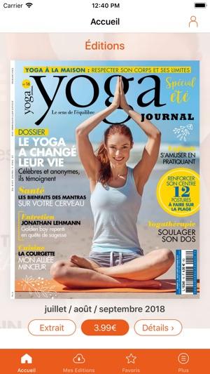 yoga journal france on the app store. Black Bedroom Furniture Sets. Home Design Ideas