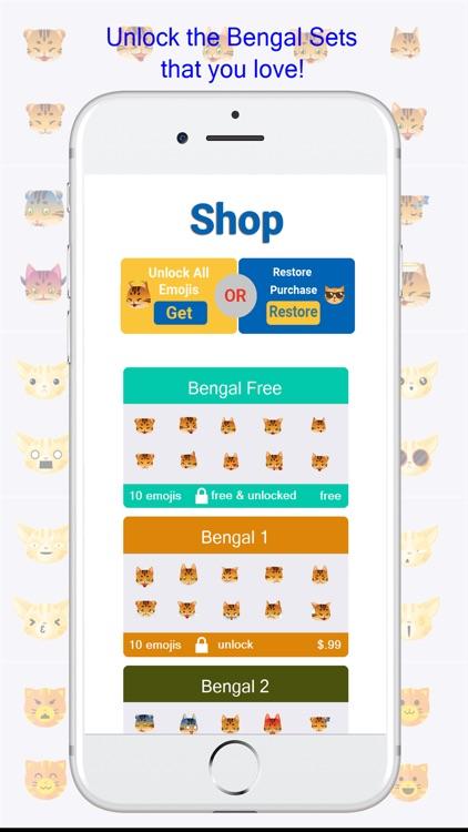 BengalMoji - Bengal Cat Emojis Keyboard screenshot-3