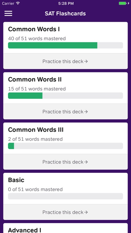 Vocabulary Flashcards - SAT