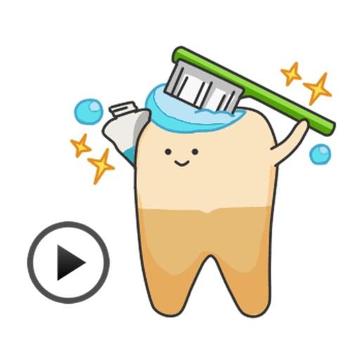 Animated Wisdom Tooth Sticker