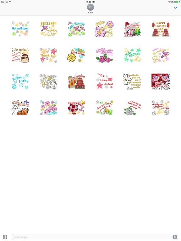 Animated Greetings Sticker screenshot 4