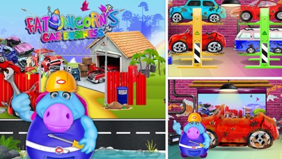 Mr. Fat Unicorn Car Mechanic screenshot 2